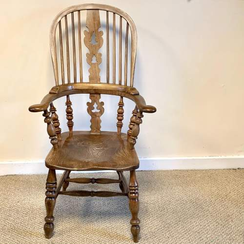 Near Pair of Victorian High Back Windsor Chairs image-5