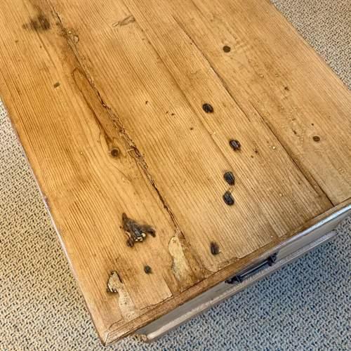Large Victorian Pine Blanket Box image-6