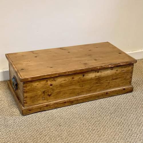 Low Victorian Pine Blanket Box image-1