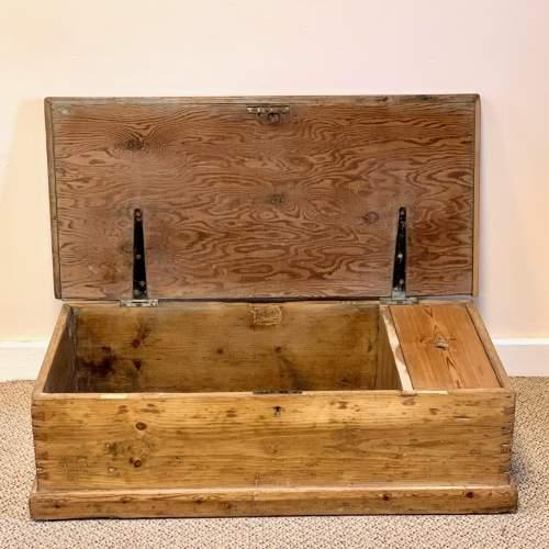 Low Victorian Pine Blanket Box image-2