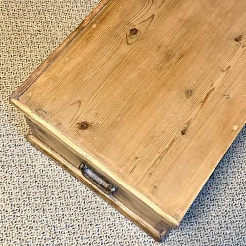 Low Victorian Pine Blanket Box image-6
