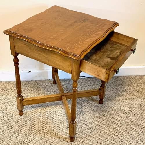 Vintage Oak Side Table image-2