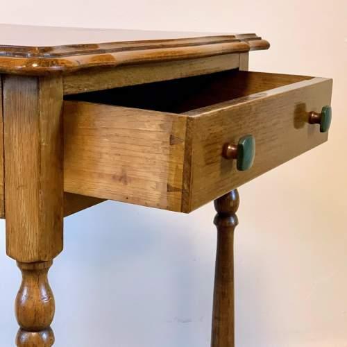 Vintage Oak Side Table image-3