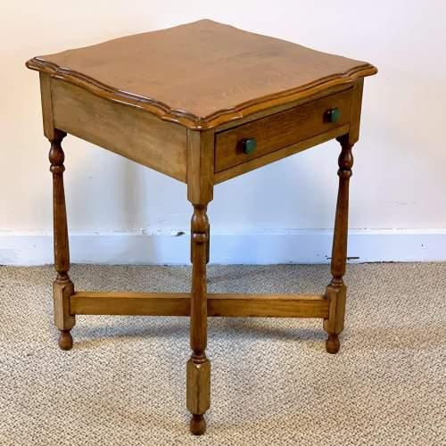 Vintage Oak Side Table image-4
