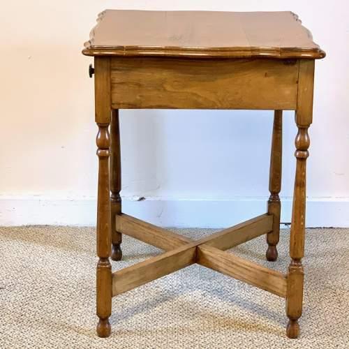 Vintage Oak Side Table image-5