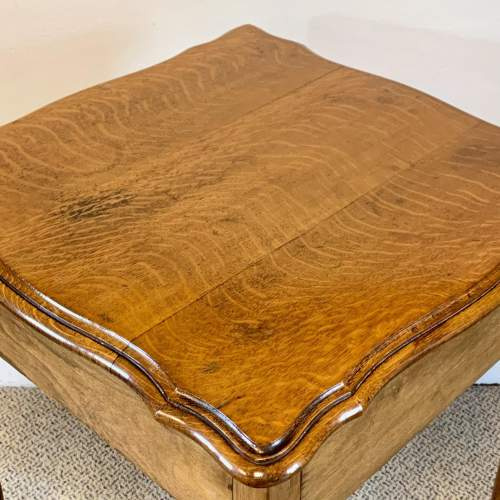 Vintage Oak Side Table image-6