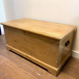 19th Century Pine Blanket Box