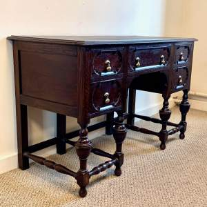 Early 20th Century Dark Oak Desk