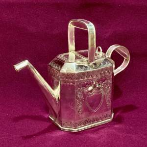 19th Century Silver Plated Watering Can