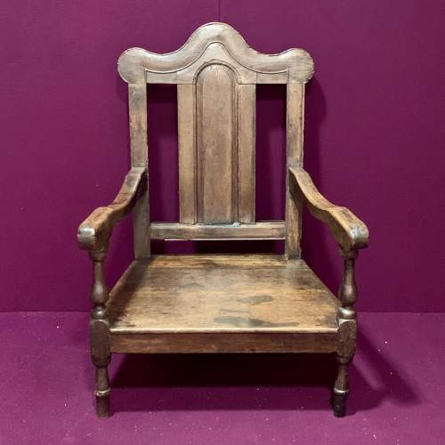 Early 18th Century Oak Nursing Chair image-2