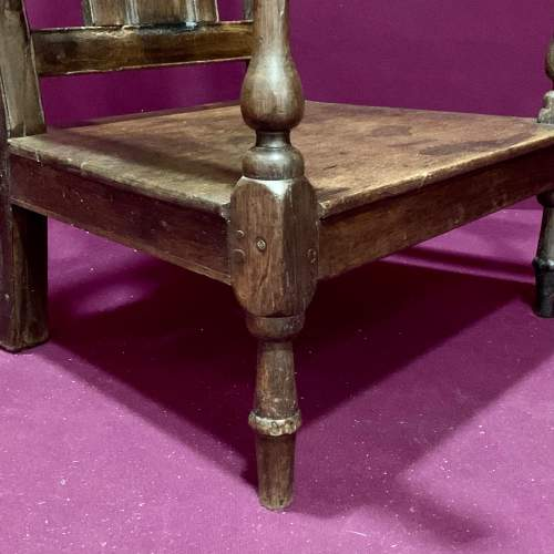 Early 18th Century Oak Nursing Chair image-6