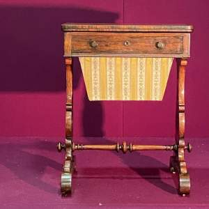 Victorian Rosewood Games and Work Table