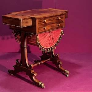 Mid Victorian Mahogany Work Table