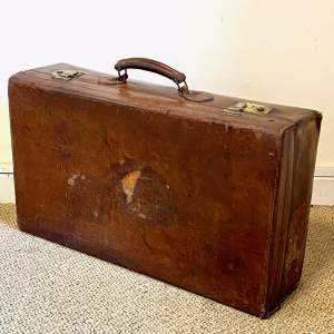 Large Vintage Leather Suitcase