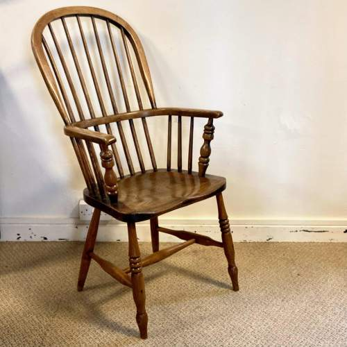 Victorian Stick Back Ash and Elm Windsor Chair image-1