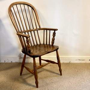 Victorian Stick Back Ash and Elm Windsor Chair