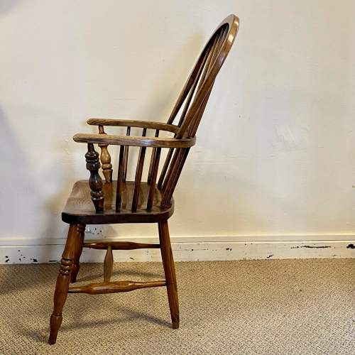 Victorian Stick Back Ash and Elm Windsor Chair image-3