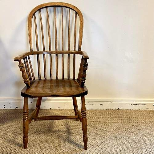 Victorian Stick Back Ash and Elm Windsor Chair image-2