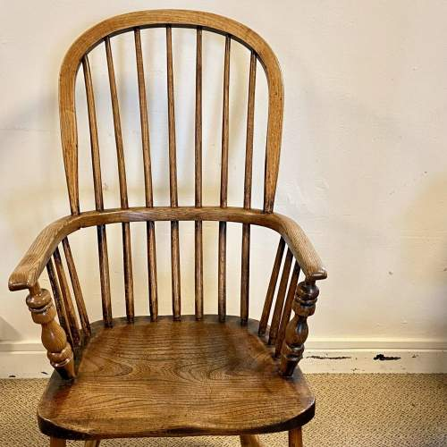 Victorian Stick Back Ash and Elm Windsor Chair image-4