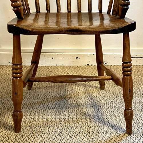 Victorian Stick Back Ash and Elm Windsor Chair image-5