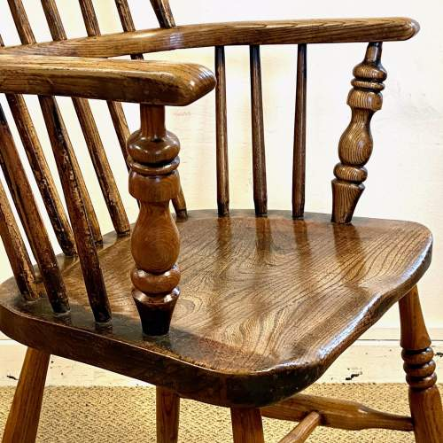 Victorian Stick Back Ash and Elm Windsor Chair image-6