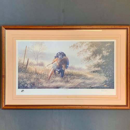 Limited Edition David Waller Print of a Labrador and Pheasant image-1