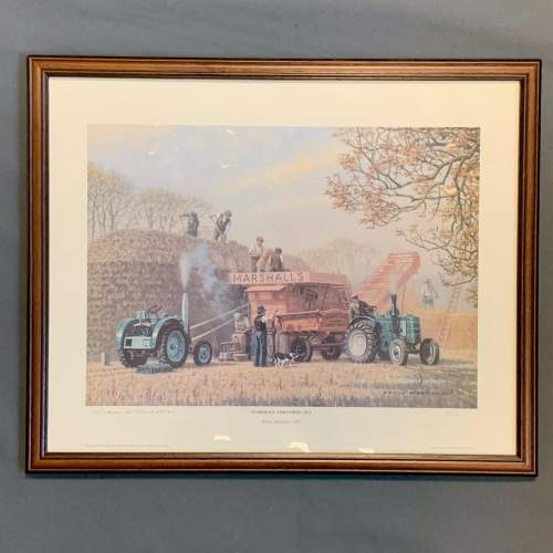 Late 20th Century Robin Wheeldon Marshall Threshing Set Print image-1