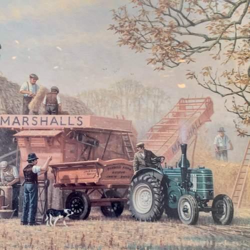 Late 20th Century Robin Wheeldon Marshall Threshing Set Print image-2