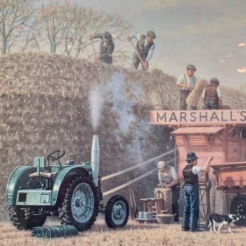 Late 20th Century Robin Wheeldon Marshall Threshing Set Print image-3