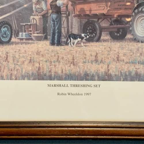 Late 20th Century Robin Wheeldon Marshall Threshing Set Print image-4