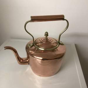 A Large Victorian Copper and Brass Kettle