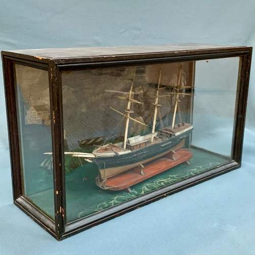 19th Century Scratch Built Cased Diaroma of a British Trade Ship image-1