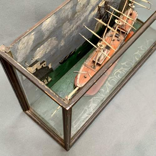 19th Century Scratch Built Cased Diaroma of a British Trade Ship image-3