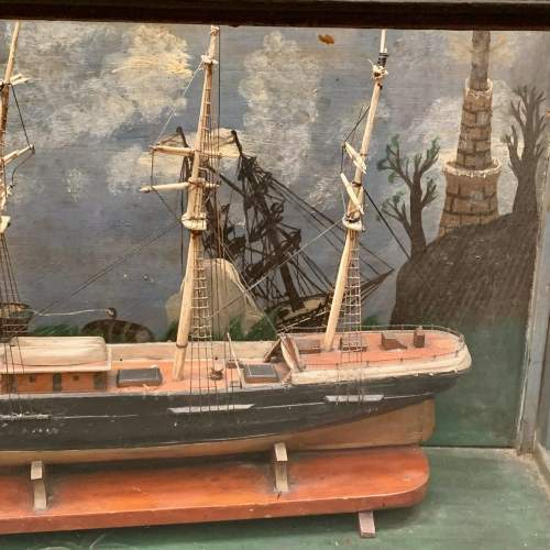 19th Century Scratch Built Cased Diaroma of a British Trade Ship image-5