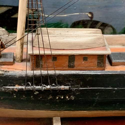19th Century Scratch Built Cased Diaroma of a British Trade Ship image-6