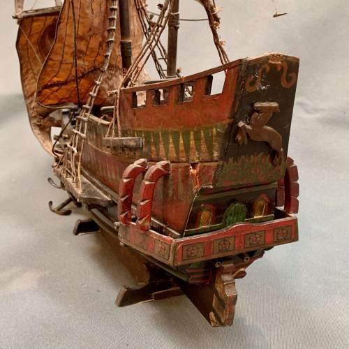Early 20th Century Scratch Built Model of the Golden Hinde Ship image-4