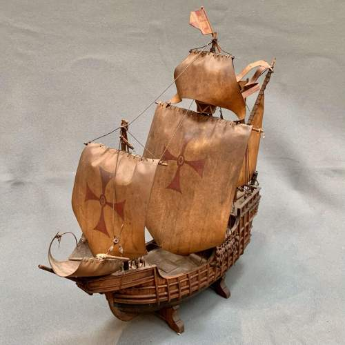 Early 20th Century Scratch Built Model of a Spanish Galleon image-2