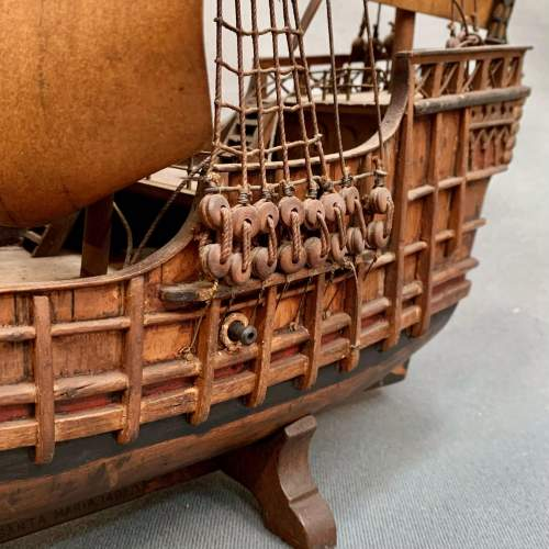 Early 20th Century Scratch Built Model of a Spanish Galleon image-3