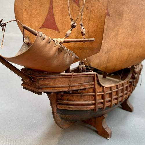 Early 20th Century Scratch Built Model of a Spanish Galleon image-4