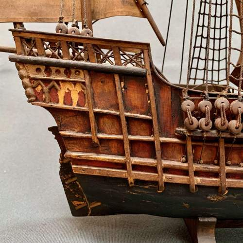Early 20th Century Scratch Built Model of a Spanish Galleon image-6