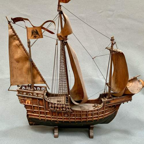 Early 20th Century Scratch Built Model of a Spanish Galleon image-5