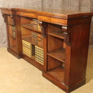 Early 19th Century Mahogany Open Bookcase