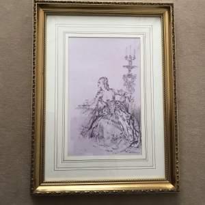 Sir W.R.Flint Ltd Ed Col Print-Madame Du Barry et Tenue Du Soir