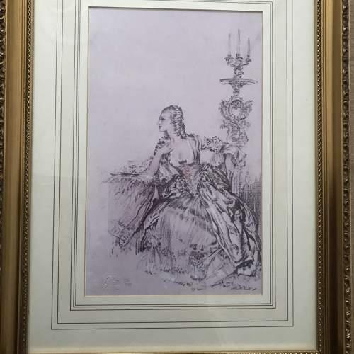 Sir W.R.Flint Ltd Ed Col Print-Madame Du Barry et Tenue Du Soir image-2