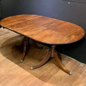 Edwardian Mahogany Two Part Dining Table