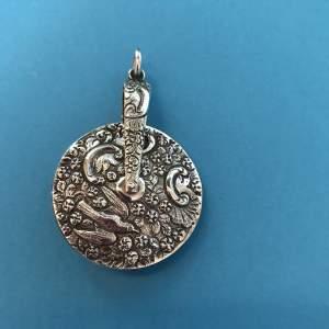 Rare Victorian Silver Pinwheel Pendant