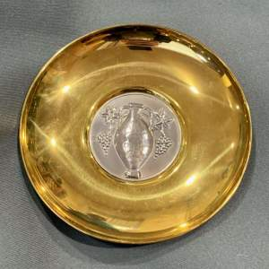 Greek Silver and Brass Dish