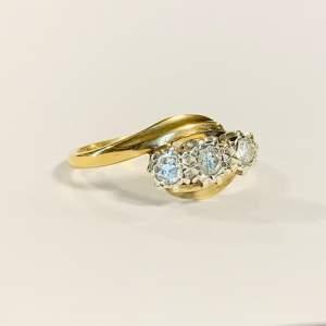 Vintage 9ct Gold 0.19ct Diamond Ring
