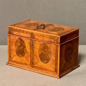 Regency Satinwood Inlaid Tea Caddy