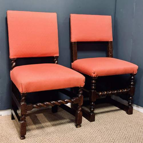 Early 18th Century Harlequin Set of Nine Oak Dining Chairs image-3